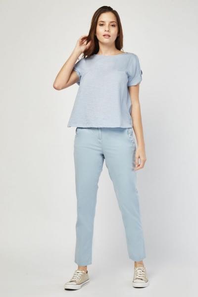 CHEAP Straight Cut Chino Trousers 28811324159 – Women's Trousers