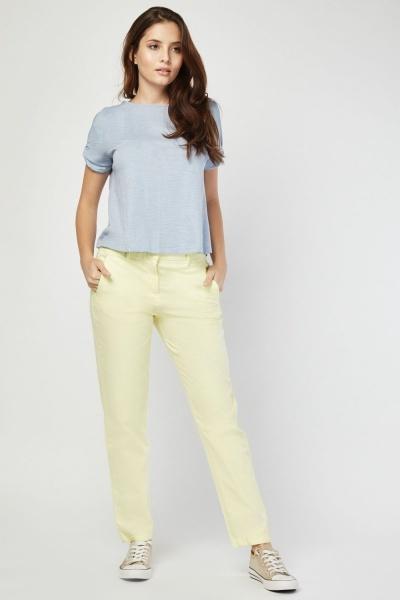 CHEAP Straight Cut Chino Trousers 28811324187 – Women's Trousers