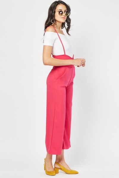 Low Wrap Pinafore Jumpsuit