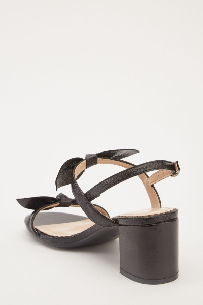 Bow Detail Heeled Sandals