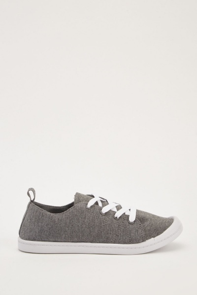 Lace Up Speckled Plimsolls