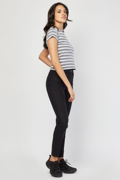 High Rise Charcoal Jeans