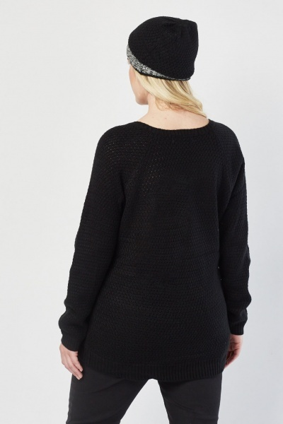 Speckled Contrast Knit Jumper