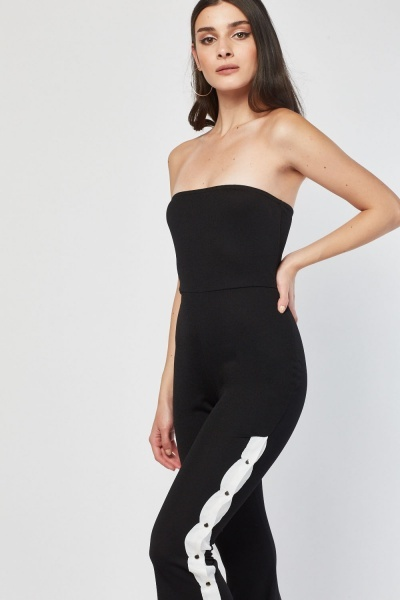 Popper Side Panel Jumpsuit