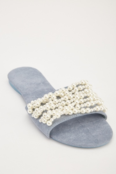 Faux Pearl Trim Slides