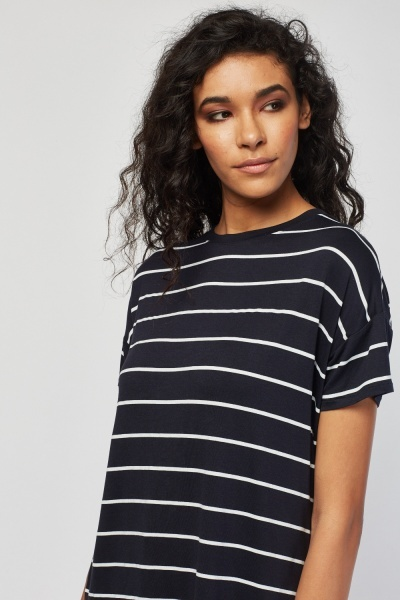 Crew Neck Stripe T-Shirt