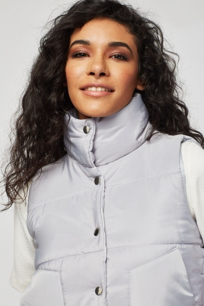 High Neck Padded Gilet