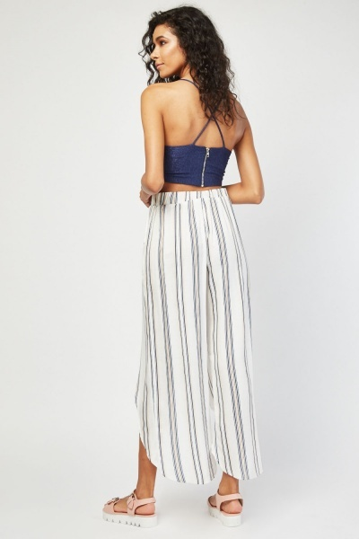 Slit Front Stripe Trousers