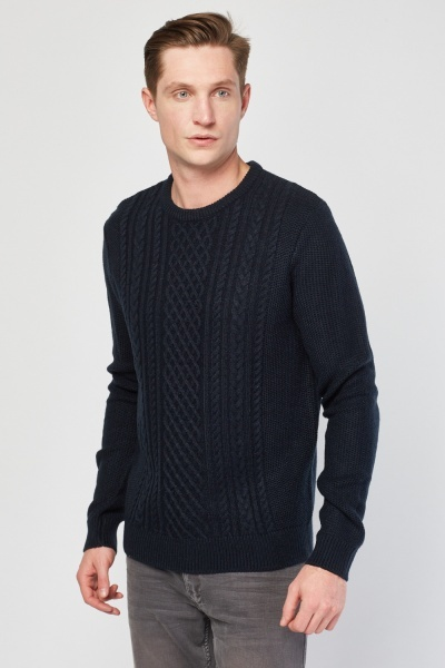 Cable Knit Basic Jumper