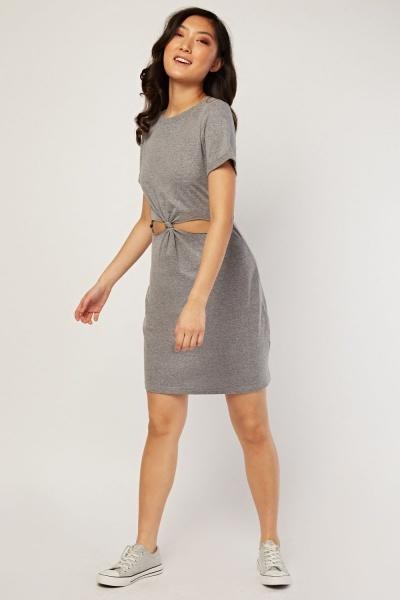 0c85b44af714 Cut Out Front T-Shirt Dress - Blue or Grey - Just £5