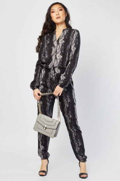 fc2f085f890 Printed Button Up Jumpsuit - Just £5