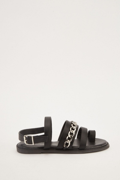 Chain Detail Strappy Sandals