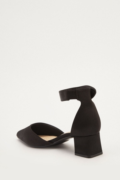 Sateen Low Heel Shoes