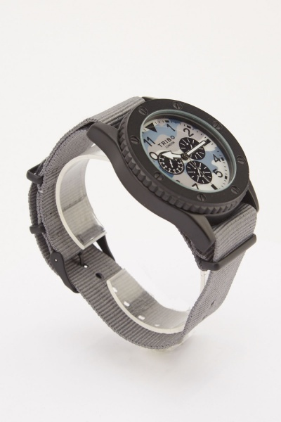 Mens Mesh Strap Multi-Dial  Watch