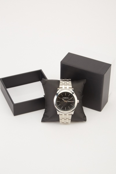 Mens Stainless Strap Dial Watch