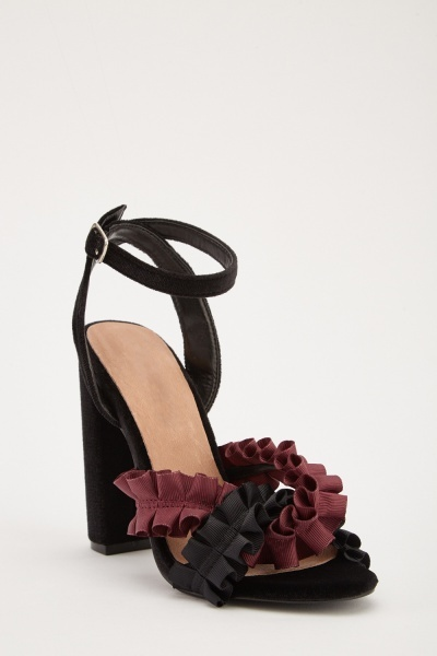 Ruched Gathered Trim Sandals