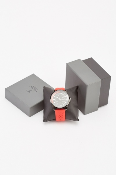 Silicone Strap Mens Watch