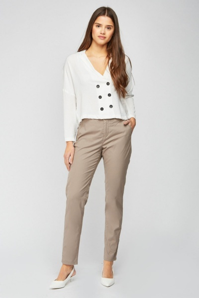 Straight Cut Bermuda Trousers