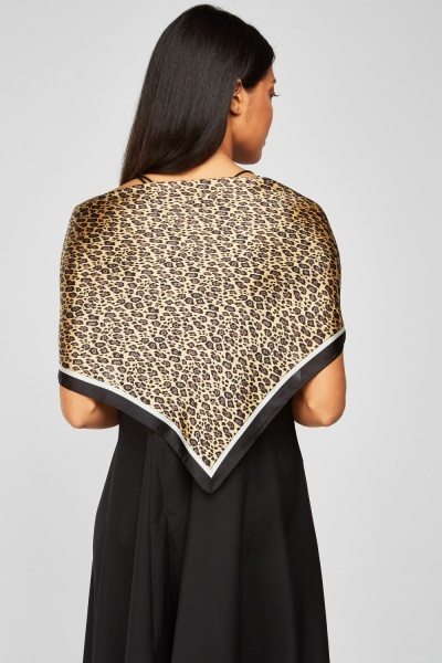 Pack Of 2 Sateen Leopard Scarves