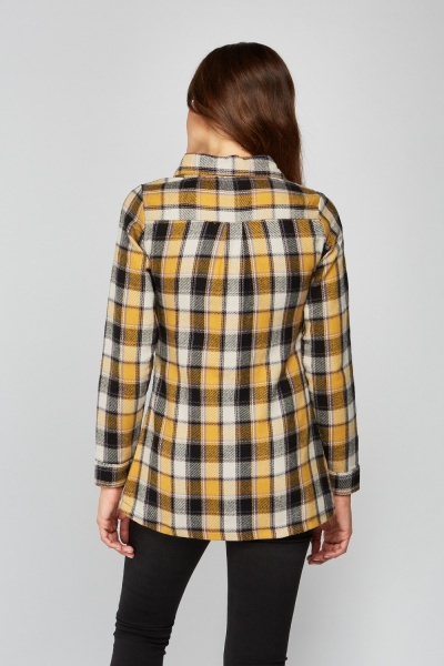 Casual Checkered Flannel Shirt