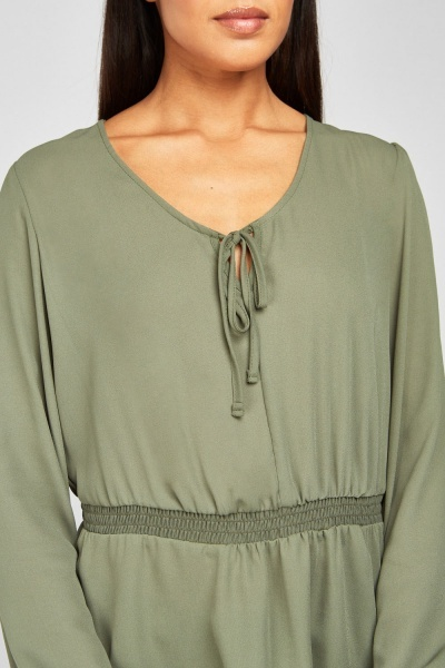Tie Up Smock Blouse