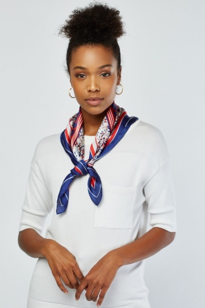Pack Of 2 Sateen Mix Printed Scarves