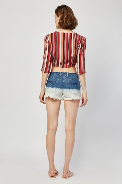 Ombre Dye Denim  Shorts