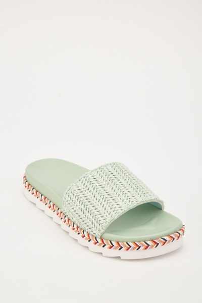 Woven Herringbone Pattern Sliders