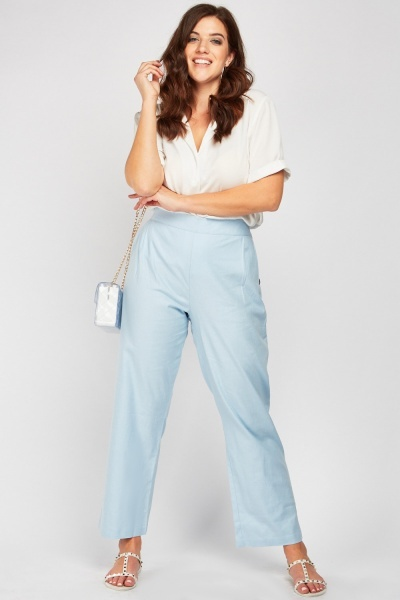 Button Side High Waist Trousers