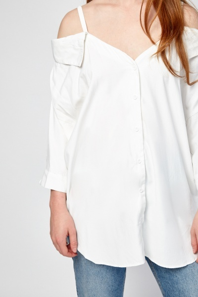Button Trim Blouse