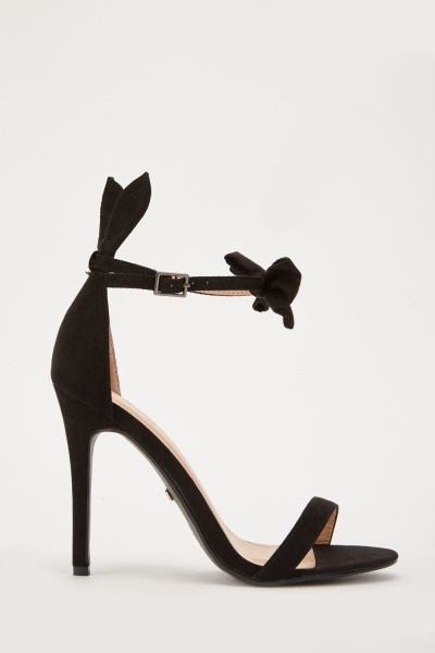 Bow Front Detail Heeled Sandals