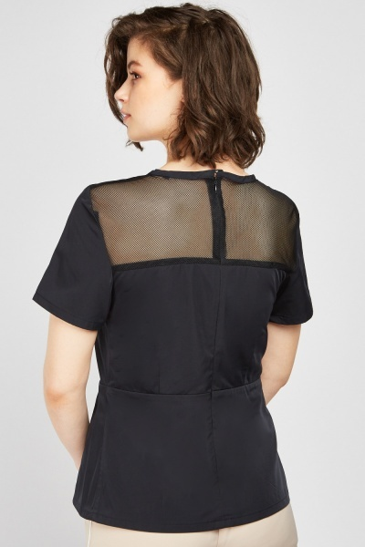 Perforated Back Navy Top