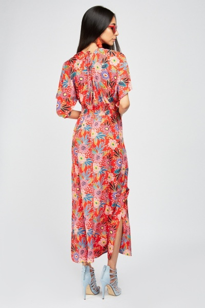 All Over Retro Print Maxi Dress