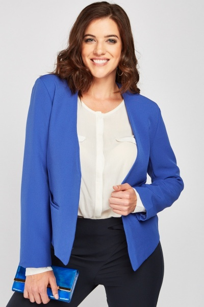 Open Front Fitted Blazer