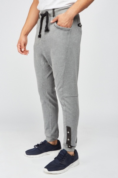 Button Side Jogger Pants
