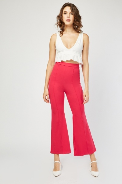 High Waist Flared Trousers