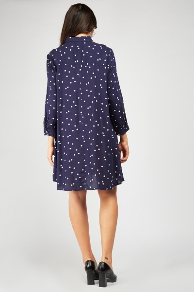 Polka Dot Shift Dress