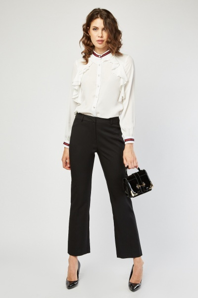 Straight Cut Formal Trousers