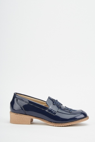 Applique Star PVC Loafers