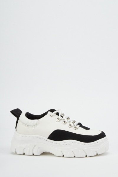 Chunky Lace Up Platform Trainers