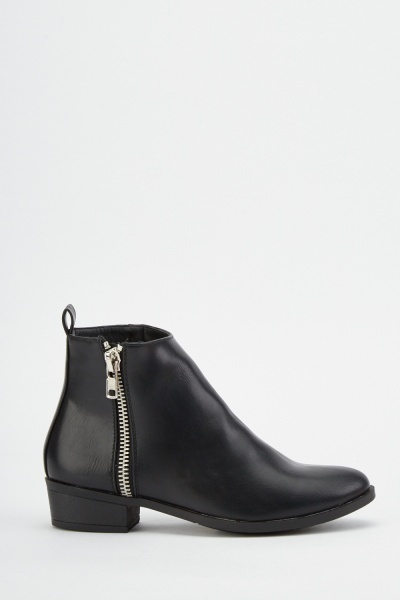 Zip Side Ankle Boots