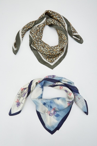 Pack Of 3 Mix Sateen Scarves