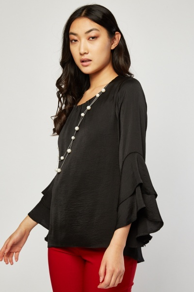 Pearl Necklace Insert Blouse