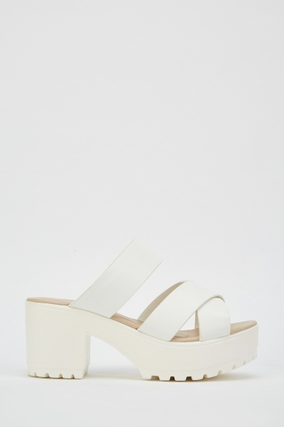 Cross-Strap Chunky Sandals