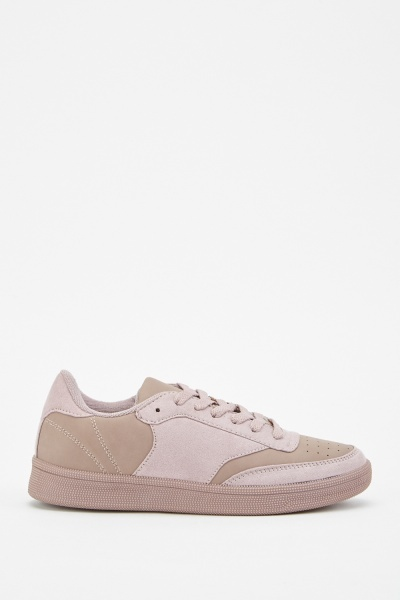 Faux Suede Contrast Trainers