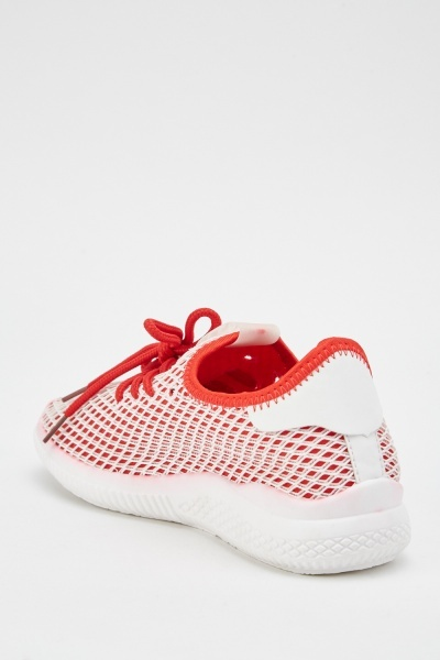 Slip-On Perforated Mesh Trainers