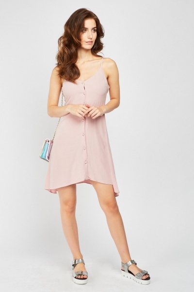 Button Front Camisole Dress