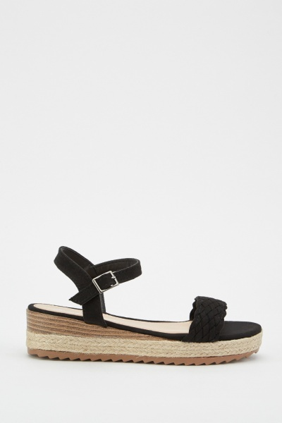 Plaited Suedette Sandals