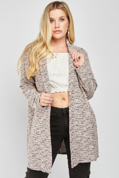 Metallic Tweed Knit Cardigan