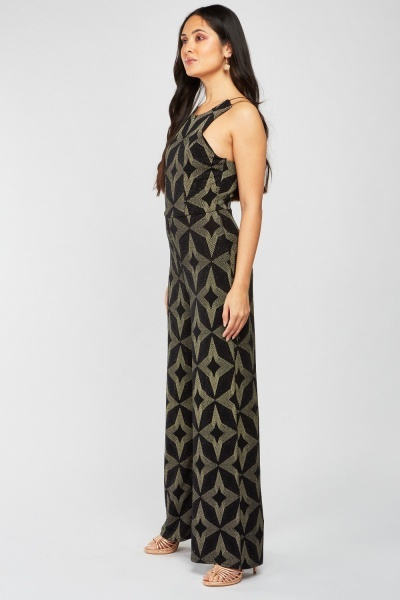 Star Lurex Pattern Jumpsuit
